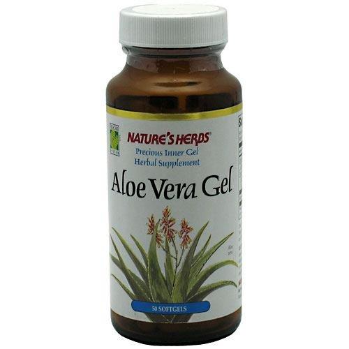 Nature's Herbs Aloe Vera Gel, 50 Vegetarian (Aloe Vera Caps)