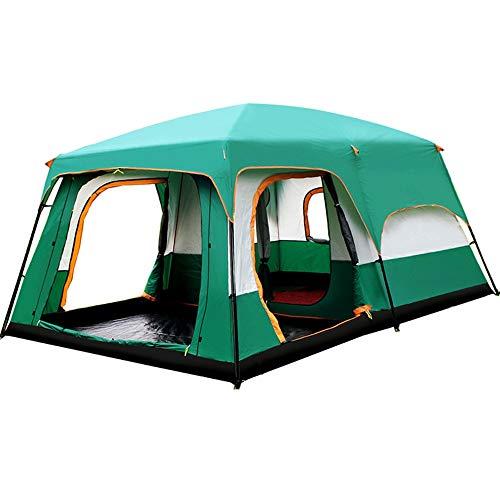 ChenyanAwesom Tienda al Aire Libre Familia Cabina de la Tienda 8-12 Personas Campo Base Que va de excursión Refugio Acampan yendo de Tiendas de campaña (Color : Green, Size : One Size)