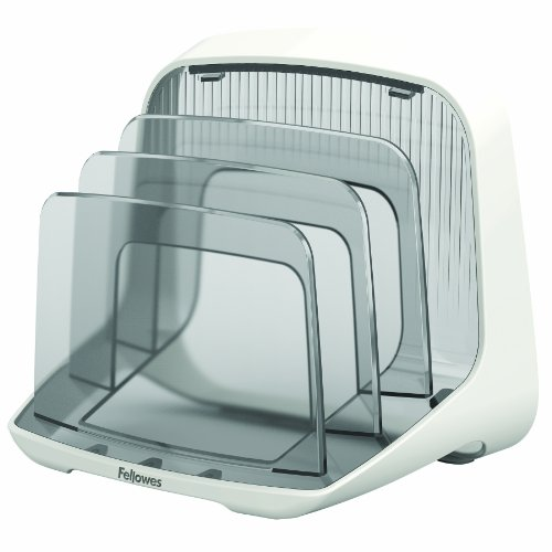 Fellowes I-Spire Series File Station/Organizer, White/Gray (9381401)