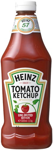 Heinz Tomato Ketchup, Squeeze-Dosierflasche, 6er Pack (6 x 1.32 l)