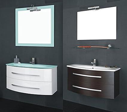 Mobile Arredo Bagno 90cm sospeso lavabo in mineralmarmo moderno in ...