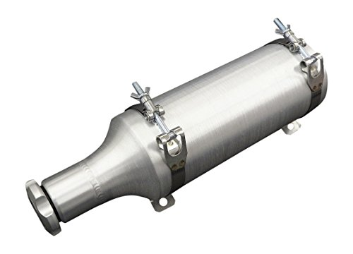 - 4x15 Spun Aluminum Fuel Bottle/Tube - 3/4 Gallon - with stainless steel brackets - Made in the USA!