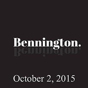 Bennington, October 2, 2015 Radio/TV Program
