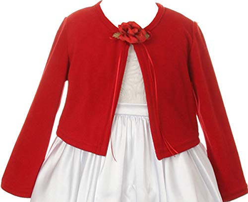 Long Sleeves Cardigan Sweater Jacket for Little Girl Red 4 KD.133 ()
