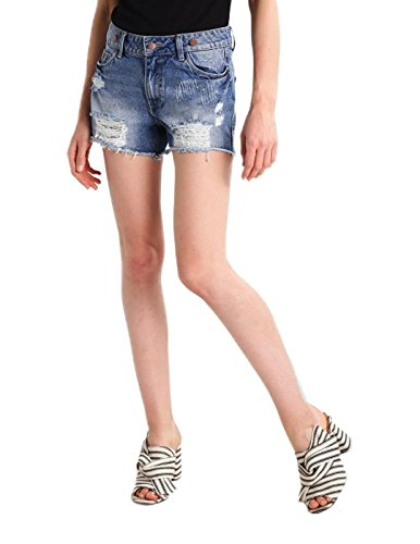 Mono Vila Vibarrel Denim Shorts Azul Azul
