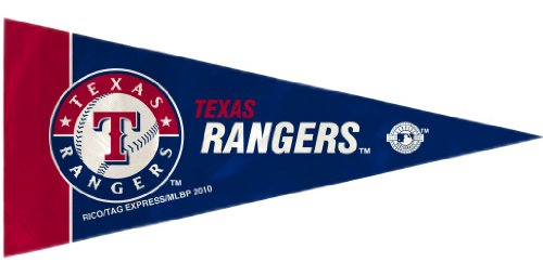 (MLB Texas Rangers 8-Pack 4'' x 9'' Royal Blue Mini Pennant Set)