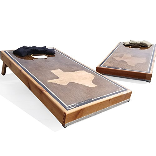 (Texas Cornhole Boards Waterproof Espresso Stained (Espresso Stain))