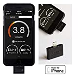 Sprimo Labs PAM01 Pocket-Sized Air Quality Tester for iPhone: Detects and Tracks Indoor/Outdoor Pollution, Fumes, Smoke, Exhaust - Perfect for Travelers, Athletes and Asthma Sufferers, Black