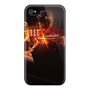 Elaney Case Cover For Iphone 4/4s - Retailer Packaging Chicago Bears Protective Case by lolosakes