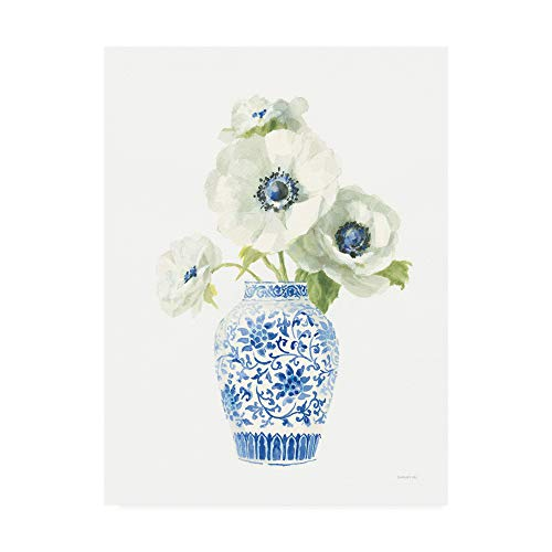 Trademark Fine Art Floral Chinoiserie White II by Danhui NAI, 14x19