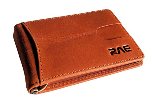 RAE RFID Wallet for Men – Genuine Soft Full Grain Leather RFID Blocking Wallet – Excellent Travel Slim Bifold – Credit Card Protector – Anti-RFID (Bonded Leather Travel Wallet)