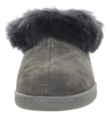 Grey Furry VG Leather Wool 26 Slippers Vogar Grey Lined Sheep Womens vxnSIT