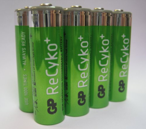 GP Recyko NiMH Pre-Charged Rechargable 1.2v, 2100mAh, AA Batteries 8-Pack