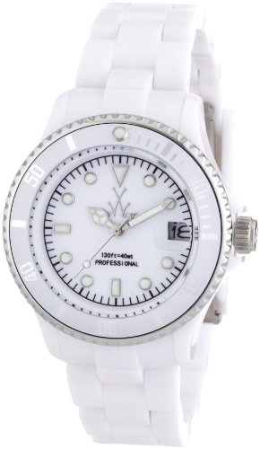 Toy Watch Men's FLS08WH Mini Plasteramic White Dial and Bracelet Watch