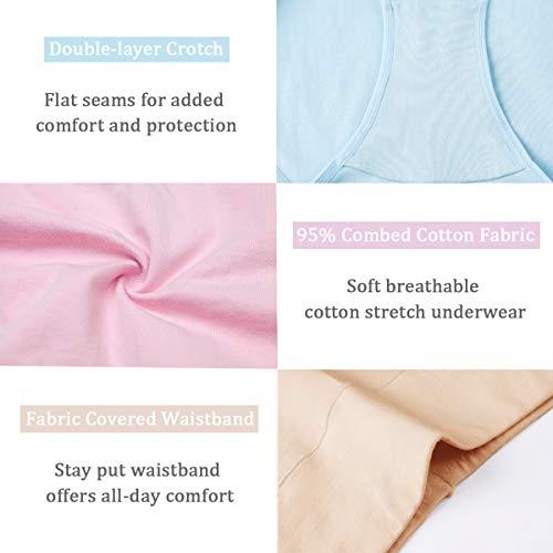 f3d865394cf6 wirarpa Women's Cotton Underwear High Waist Full Coverage Brief ...
