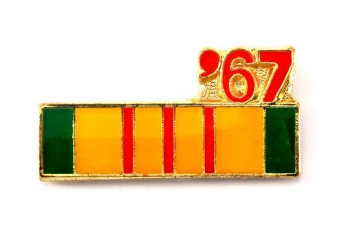 Vietnam Veteran 1967 Ribbon Lapel Hat Pin Marines Army Navy Air Force PPM795