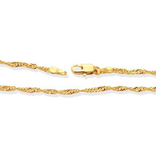 LIOR - Chaîne en or jaune - 60cm de long - largeur 0.4 cm