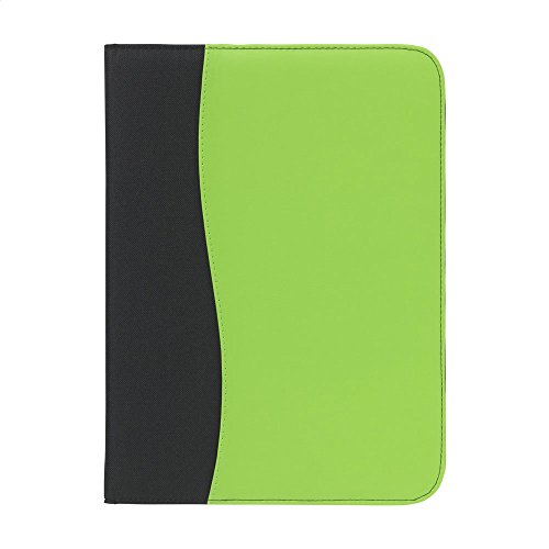 Padfolio Green (eBuyGB A4 Executive PU Leather Conference Padfolio Resume Portfolio with Writing Pad and Pen - Lime Green)