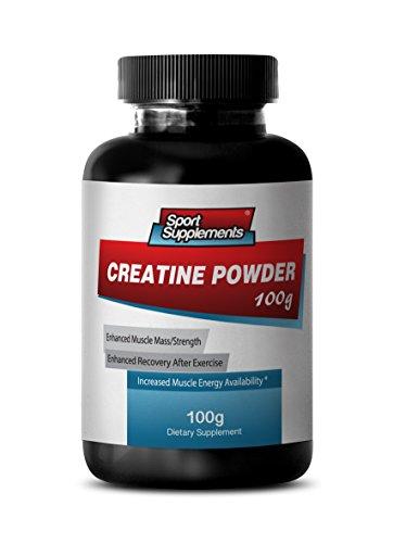 Creatine Monohydrate Capsules - Creatine Powder 100mg - Premium Creatine Powder to Promote Weight Gains and Stamina (1 Bottle)