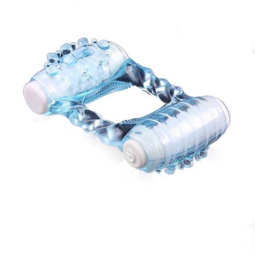 Anneau vibrateur MERSUII Sex Toy Double Ding Ding vibrant Cock Ring contrôle pénis, pénis manches, Stimuler Stimulateur de massage