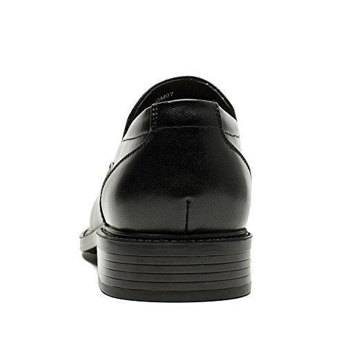 Golaiman Mens Classic Dress Mocassini Scarpe Formali Slip-on Scarpe Oxford In Pelle Con Punta In Pelle Nera