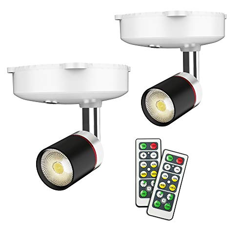 Wireless Spotlight, Battery Operated Accent Lights Art Lights for Paintings Mini Led Picture Light Puck Lights Wall…