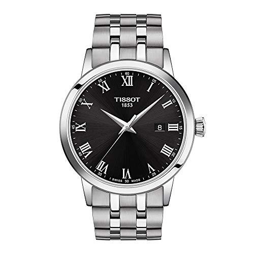 Reloj de vestir Tissot Classic Dream de acero inoxidable para hombre, gris T1294101105300