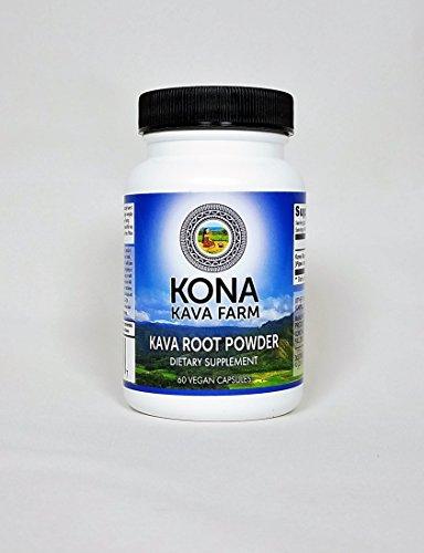 KONA KAVA Kava Extract Root Only Premium Capsules - Instant Kava Coffee