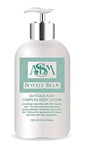 ASDM Beverly Hills Glycolic Acid Complex Body Lotion, 16 Ounce