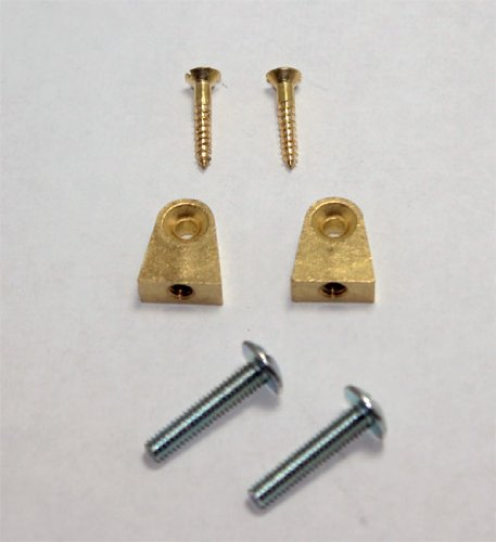 Piano Music Desk Hinges - Set of 2 with Screws (Desk Part)