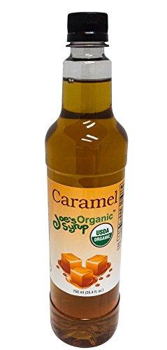 Joe's Syrup Organic Flavored Syrup, Organic Caramel, 750 (Creamy Caramel Syrup)
