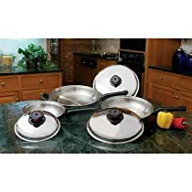 Precise Heat™ 6-Piece 12-Element Stainless Steel Skillet Cookware Set