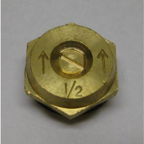 6 Total Nozzles 2 Pack 15 Foot Radius Spray Half Pattern Brass Sprinkler Nozzle Male Thread Orbit 3 Pack