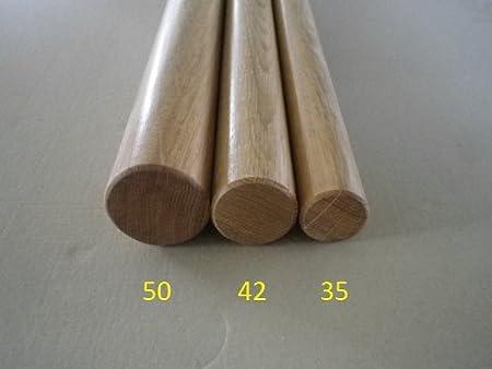 Eiche Handlauf gefast mit Edelstahlhalter in verschiedenen L/ängen 180cm 3 Edelstahl-Halter