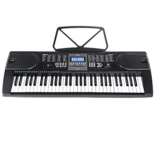 Joy 61-Key Electronic Keyboard with Power Supply and Music S