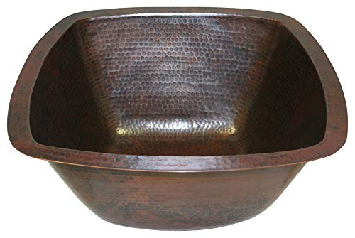 - 15 Square Hand Hammered Copper Bar Sink by SimplyCopper