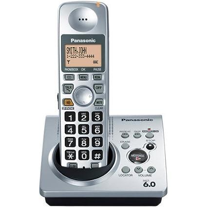 amazon com panasonic dect 6 0 silver cordless phone with answering rh amazon com Panasonic Kx- Tg270 Sim Panasonic Phone KX -TGA470