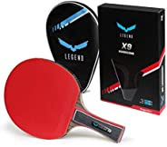Legend Professional Table Tennis Paddle - Ping Pong Racket with Carrying Case