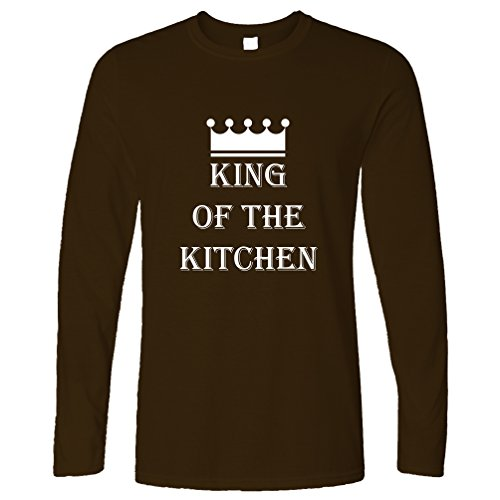 King Of The Kitchen Master Chef Cooking Cook Funny Slogan Long Sleeve