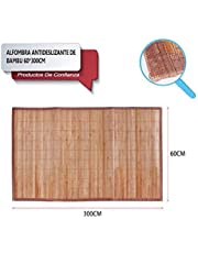 LEYENDAS Alfombra Antideslizante, Alfombra de Madera de bambú, Alfombrilla de baño, Cocina y Pasillo Repelente al Agua marrón Claro