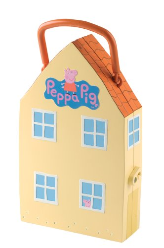 Amazoncom Peppa Pig Playhouse with Mat and 4 Figures Toys  Games