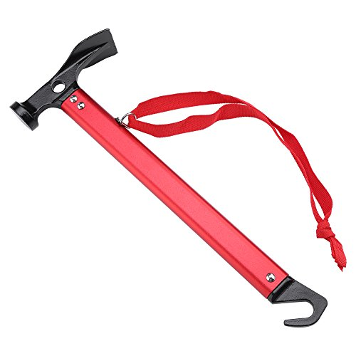 Optional Puller - Tent Peg Puller Outdoor Camping Tent Peg Stake Puller Extractor Multi-function Camping Tool ( Color : Red )