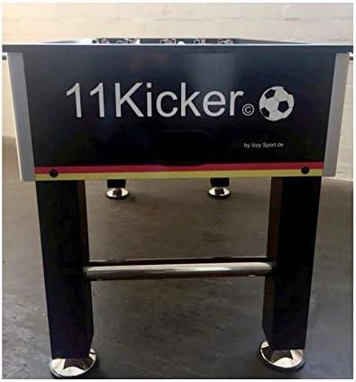 IZZY SPORT 11 futbolín futbolín – Mesa, tamaño: 137 x 75 x 87 cm, MDF, mesa de fútbol, peso 45 kg, 2 pelotas, altura regulable, futbolín: Amazon.es: Juguetes y juegos