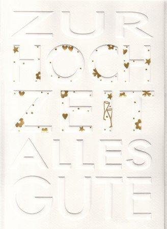 A4 Hochzeitskarte Weiss Gold Amazon De Burobedarf Schreibwaren