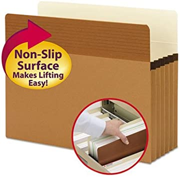 Red Rope SMEAD Easy Grip File Pocket Letter SMD73285 10//Box 5-1//4-Inch Expansion