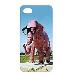 ZXSPACE A Mighty Elephant Pattern PC Back Case for iPhone 5