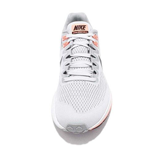 Nike Kvinders Luft Zoom Struktur 21 Løbesko Ulv Grå / Mørkegrå / Ren Platin HBbNu7s2