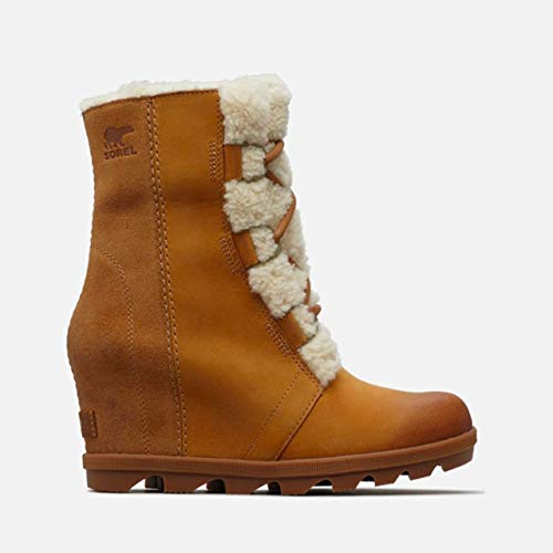 (SOREL Women's Joan of Arctic Wedge II Lux Boots, Camel Brown, 8.5 M US)