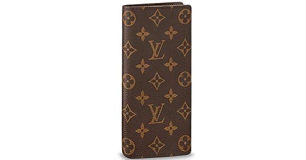 Amazon.com: Louis Vuitton Monogram Canvas Brazza Wallet ...