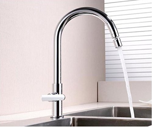 Diongrdk Kitchen Sink Taps Kitchen Sink Tap Faucet Water Kitchens Mixer Tap Deck Mounted Chrome Polished Single Cold Water Taps